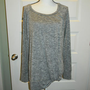 TIME AND TRU GRAY TWIST MATERNITY LONG SLV TOP XL